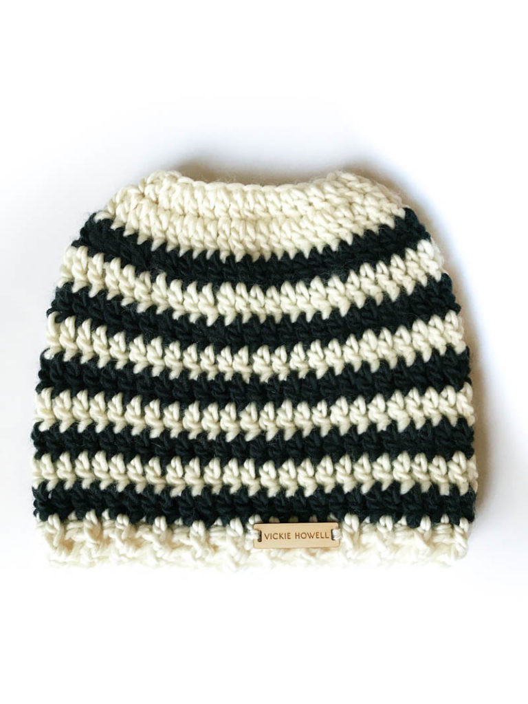 Messy Bun Beanie How to Convert Almost Any Hat Pattern