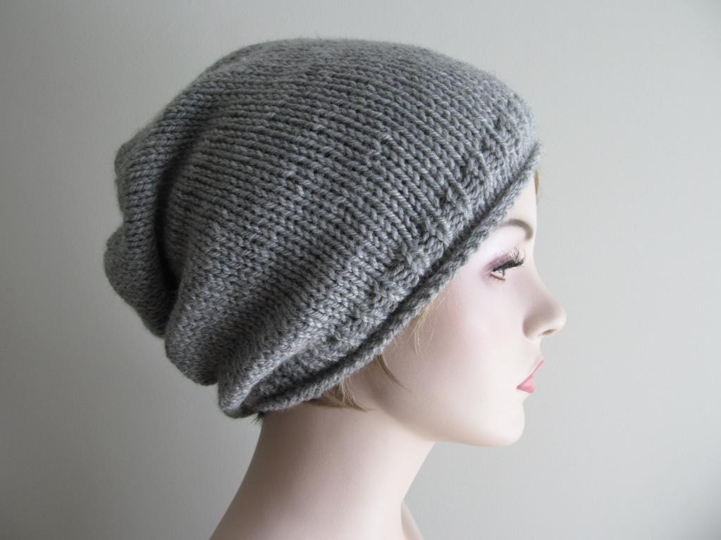 Beanie Hat Pattern Awesome Slouchy Hat Knitting Pattern Of Amazing 45 Ideas Beanie Hat Pattern