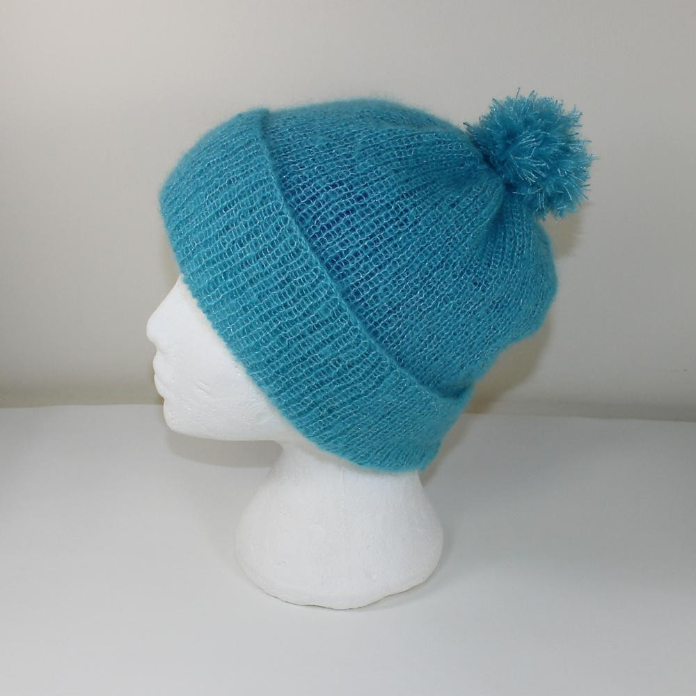 Party Angel Bobble Beanie Hat Knitting pattern by