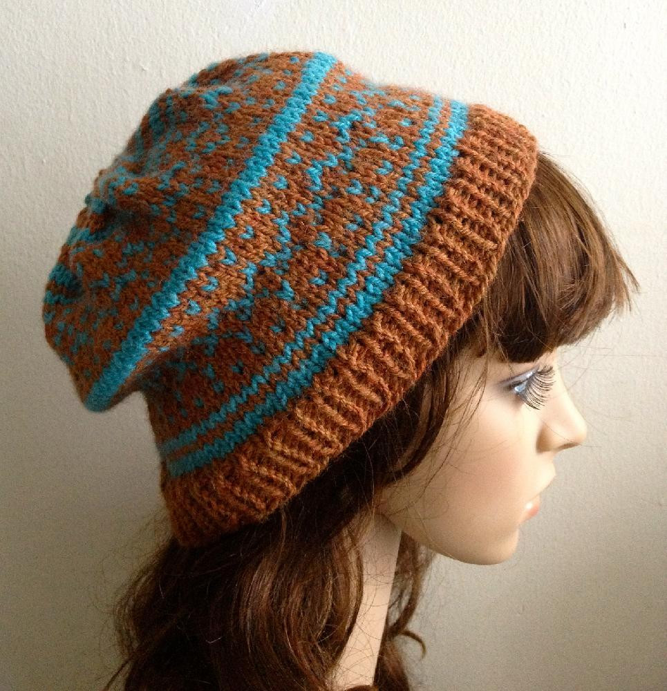 Beanie Knitting Pattern Inspirational Fair isle Beanie Hat Of Marvelous 50 Pictures Beanie Knitting Pattern