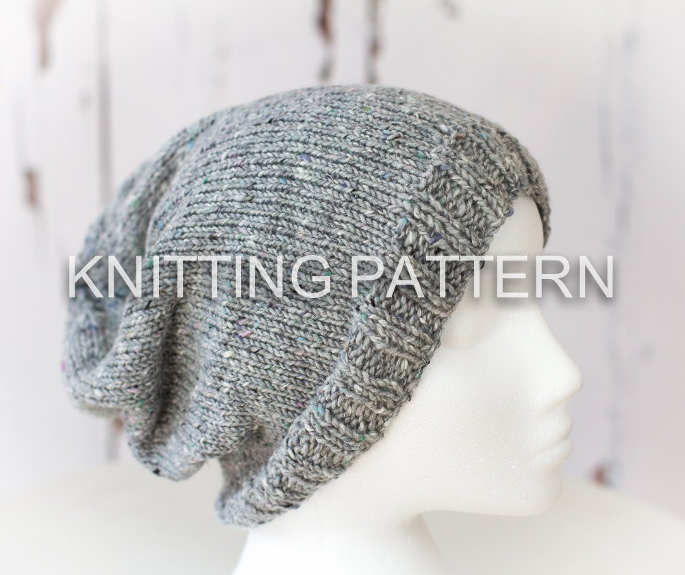 Beanie Knitting Pattern Inspirational Knitting Pattern Diy Instructions Slouch Beanie Hat Of Marvelous 50 Pictures Beanie Knitting Pattern