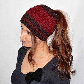Ponytail Hats Hat with Hole for Pony from SlouchyBeanie