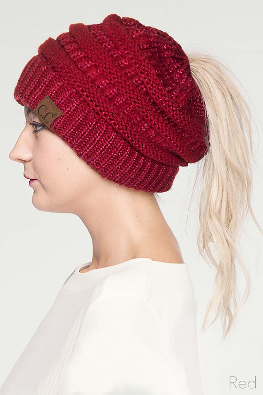 Beanie Ponytail Hat Lovely Metallic Cc Beanie Hat with Open Ponytail Of Delightful 45 Models Beanie Ponytail Hat