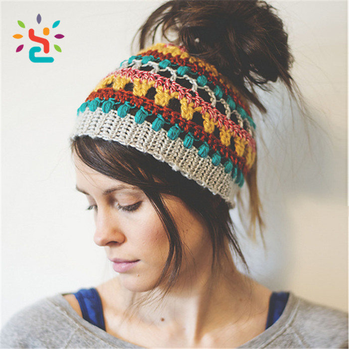 Beanie Ponytail Hat New Fold Up Tail soft Stretch Cable Knit Messy High Bun Of Delightful 45 Models Beanie Ponytail Hat