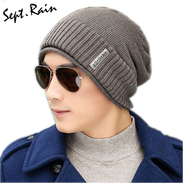 Aliexpress Buy 2017 Mens Knitting Winter Hats Caps