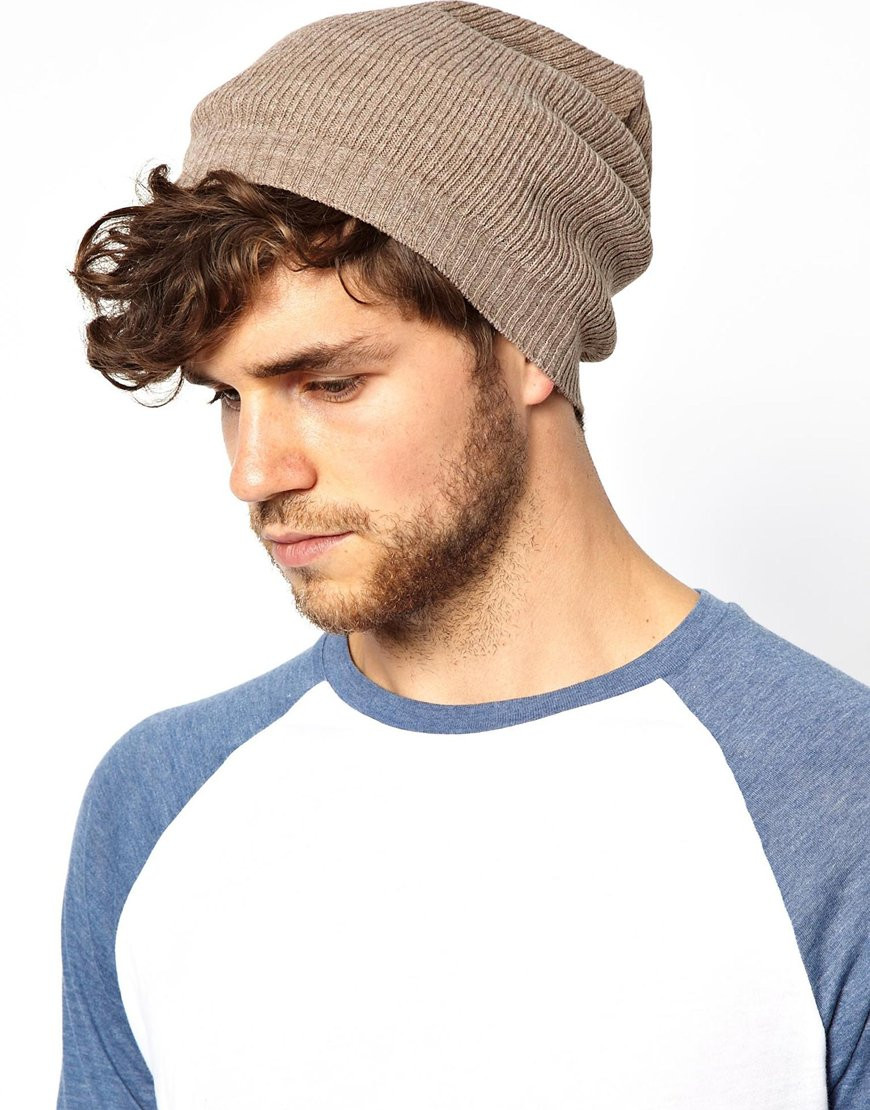 Beanies for Men Best Of Lyst asos Slouchy Beanie Hat In Brown for Men Of Amazing 47 Images Beanies for Men