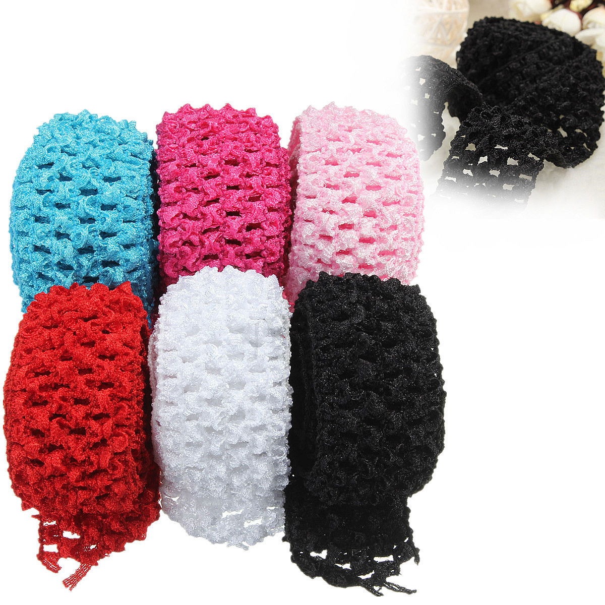 Beautiful 1 5 Crochet Elastic Stretchy Waistband Headband Hair Stretchy Crochet Baby Headband Pattern Of Top 48 Images Stretchy Crochet Baby Headband Pattern
