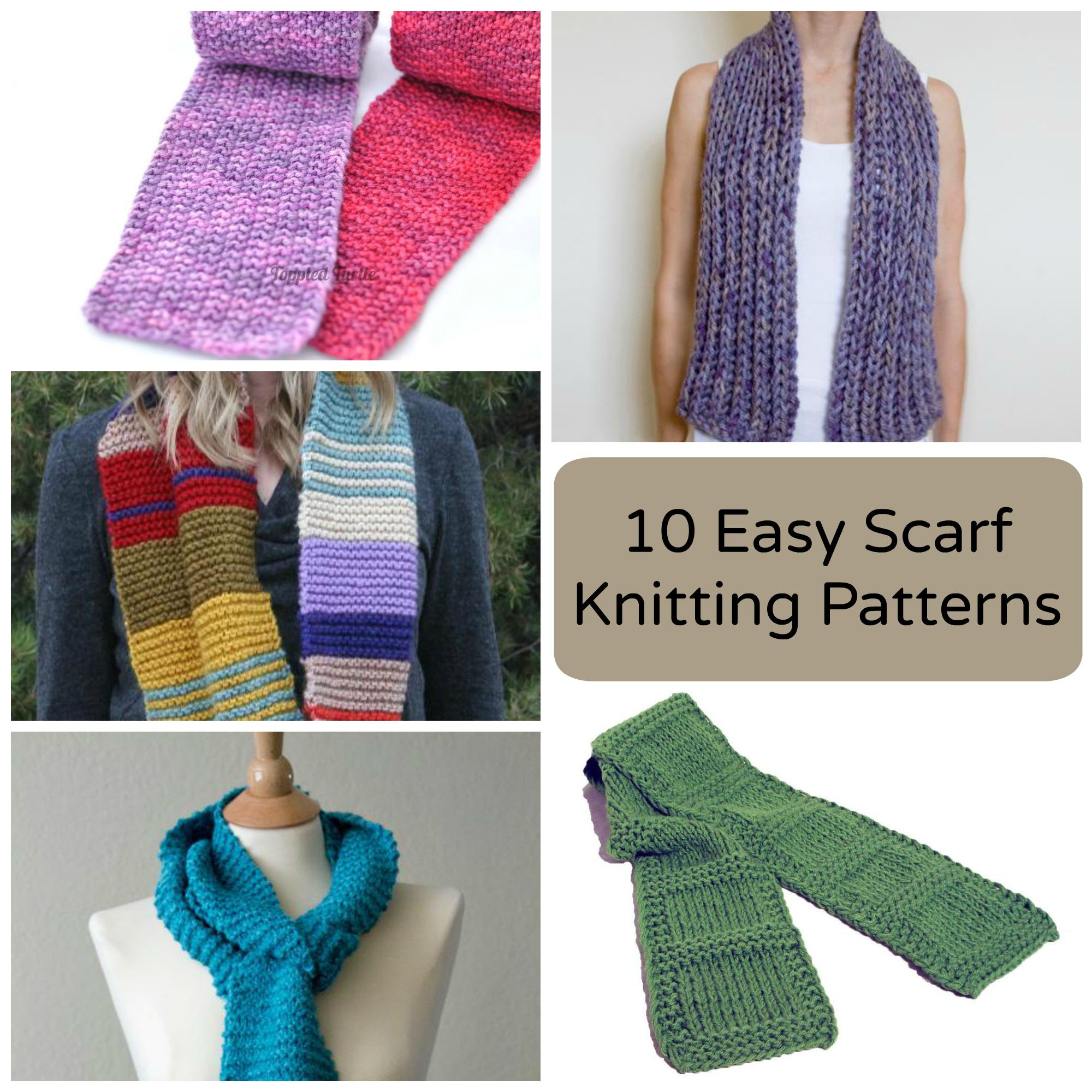 10 Easy Scarf Knitting Patterns for Beginners