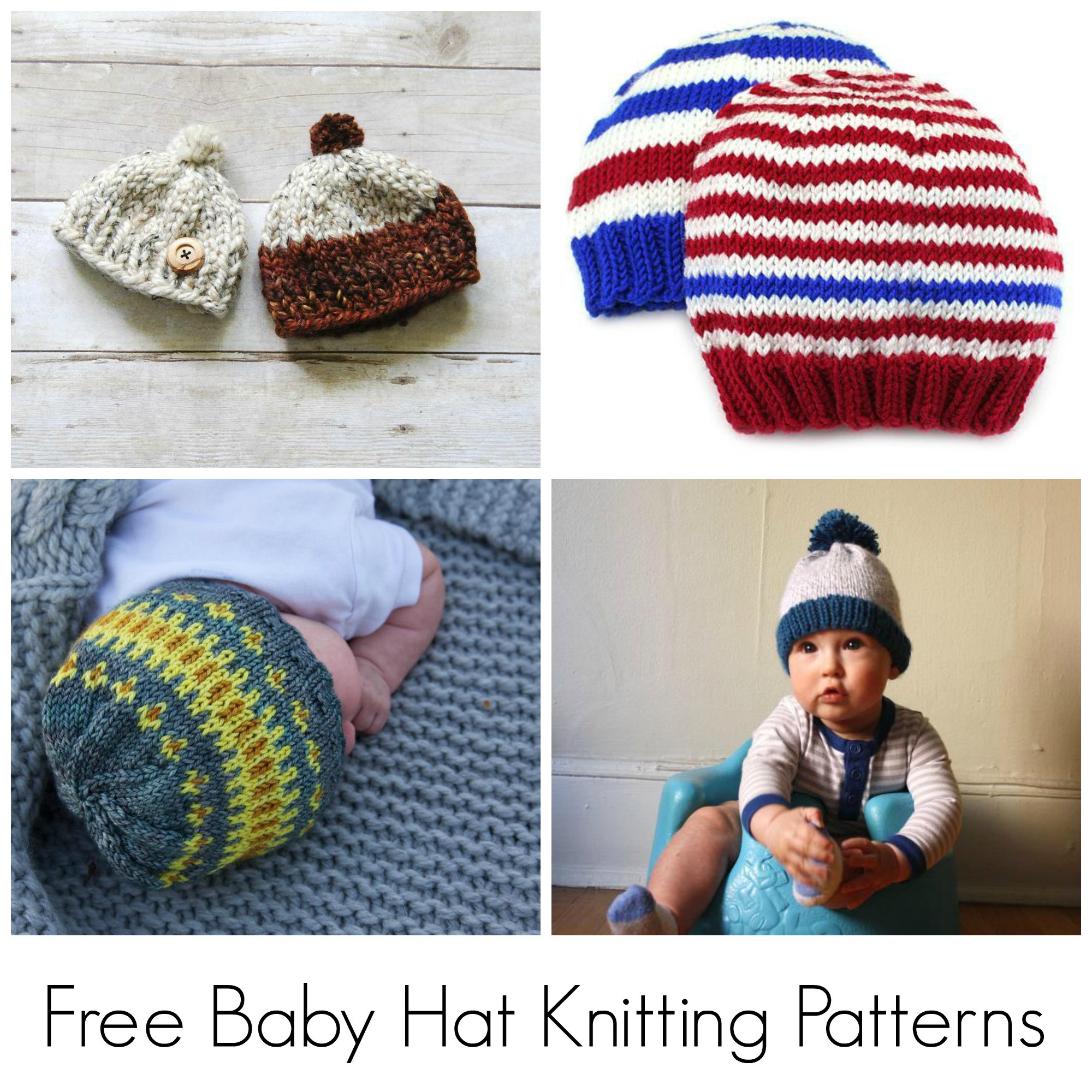 10 FREE Knitting Patterns for Baby Hats on Craftsy