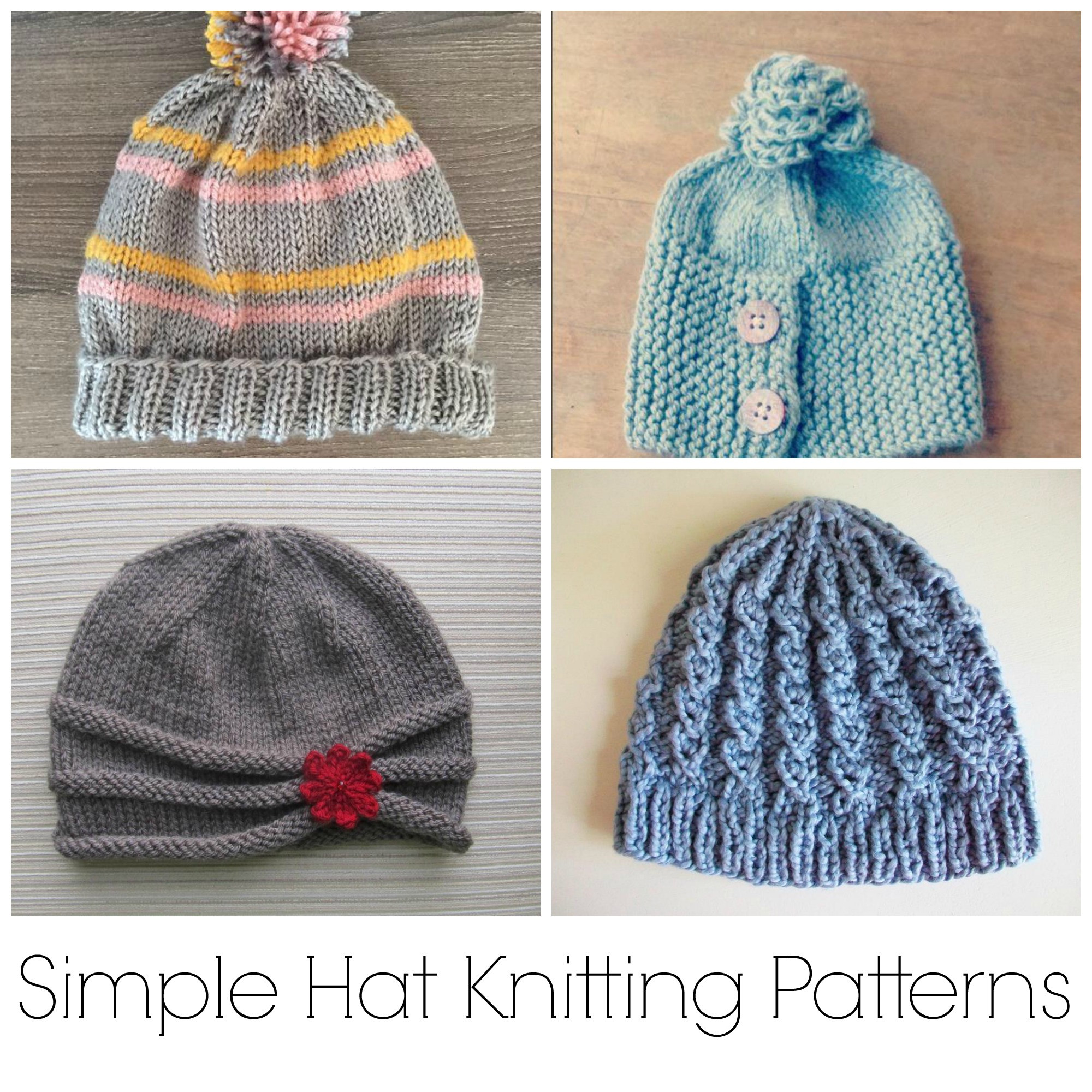Beautiful 10 No Fuss Simple Hat Knitting Patterns Easy Knit Hat Of Brilliant 47 Pictures Easy Knit Hat