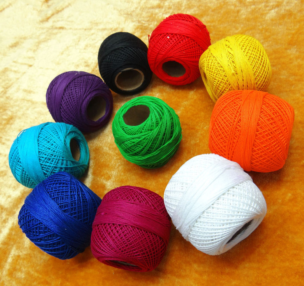 10 Pcs Thread Mercer Cotton Crochet Thread Yarn Craft