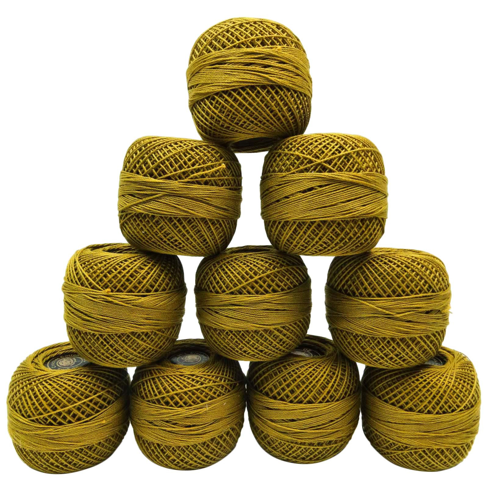 Beautiful 10 Pcs Yellow Mercer Cotton Crochet Thread Yarn Tatting Crochet Cotton Thread Of New 50 Pics Crochet Cotton Thread