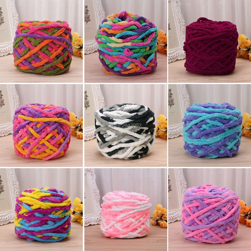 Beautiful 100g 1ball soft Cotton Hand Knitting Yarn Chunky Woven Hand Crochet Yarn Of Delightful 43 Models Hand Crochet Yarn