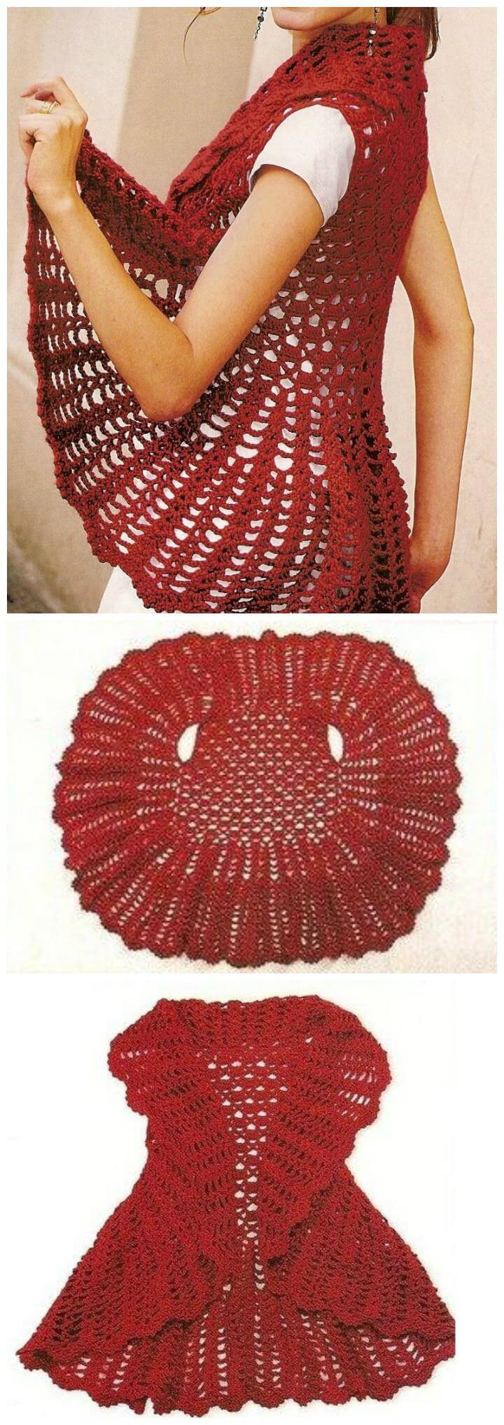Beautiful 12 Free Crochet Patterns for Circular Vest Jacket Crochet Circular Vest Of Delightful 46 Models Crochet Circular Vest