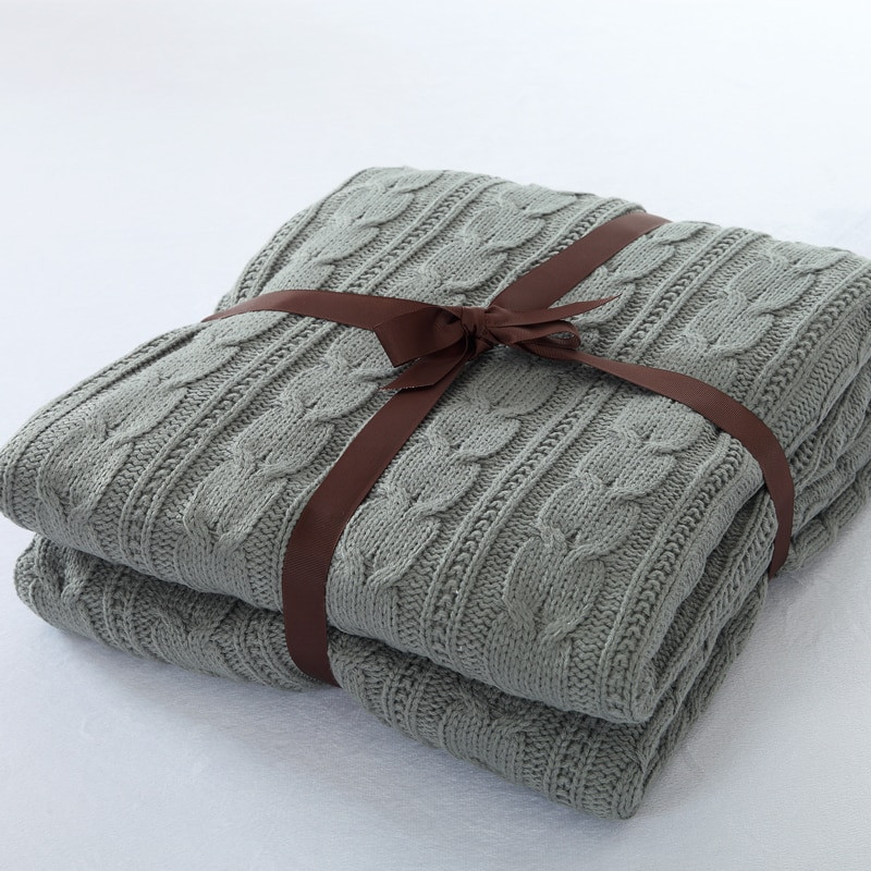 Beautiful 120 180cm Knitted Blanket Cotton Knitted Throw with Super Cotton Knit Baby Blanket Of Awesome 41 Models Cotton Knit Baby Blanket