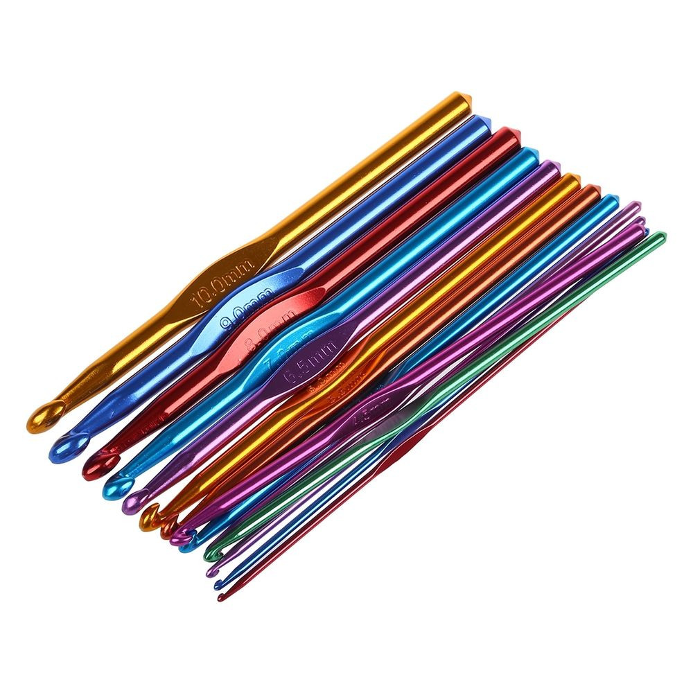 Beautiful 14 Sizes Multi Coloured Aluminum Crochet Hooks Needles Set Crochet Needle Of Superb 42 Photos Crochet Needle