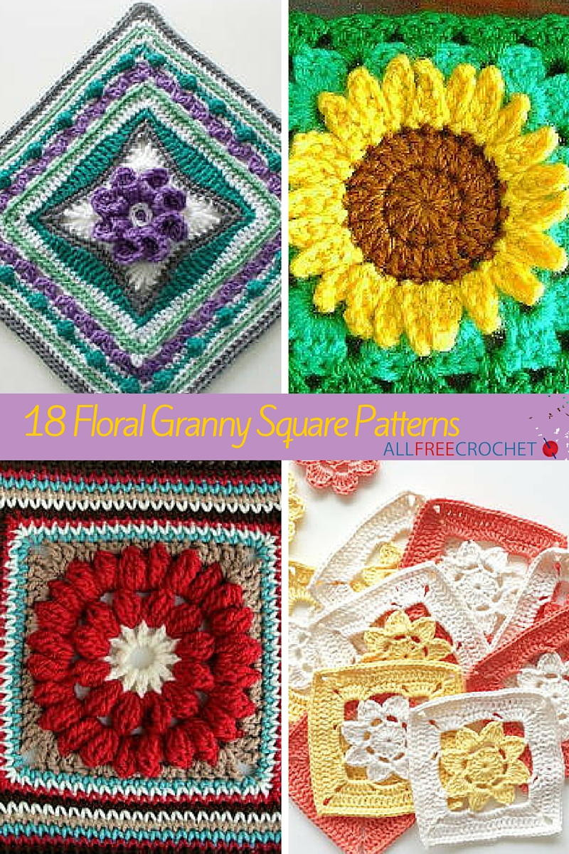 Beautiful 18 Floral Granny Square Patterns Crochet Flower Square Of Brilliant 47 Models Crochet Flower Square