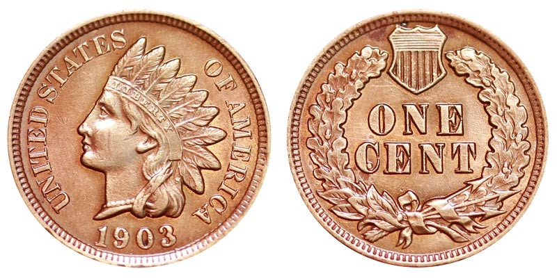 Beautiful 1903 Indian Head Cent Bronze Posite Penny Value and Prices Indian Penny Value Of Delightful 40 Pics Indian Penny Value