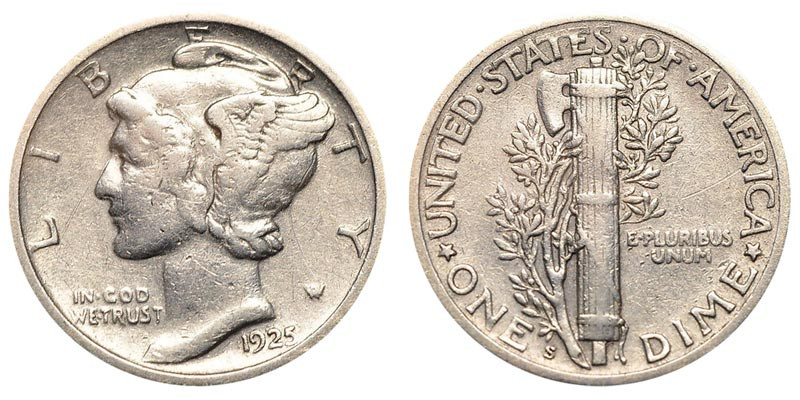 Beautiful 1925 S Mercury Silver Dimes Value and Prices Mercury Dime Prices Of Superb 49 Ideas Mercury Dime Prices