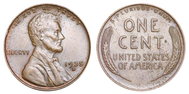 Beautiful 1935 D Lincoln Wheat Cent Bronze Posite Penny Value Wheat Penny Prices Of Adorable 50 Pics Wheat Penny Prices