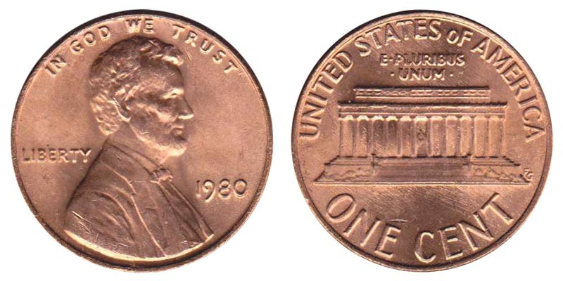 Beautiful 1980 Lincoln Memorial Cent Copper Alloy Penny Value and Lincoln Cent Values Of Amazing 50 Images Lincoln Cent Values