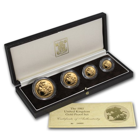 Beautiful 1985 Great Britain 4 Coin Gold Proof Set Gold Price Mint Proof Sets Value Of Gorgeous 43 Images Mint Proof Sets Value