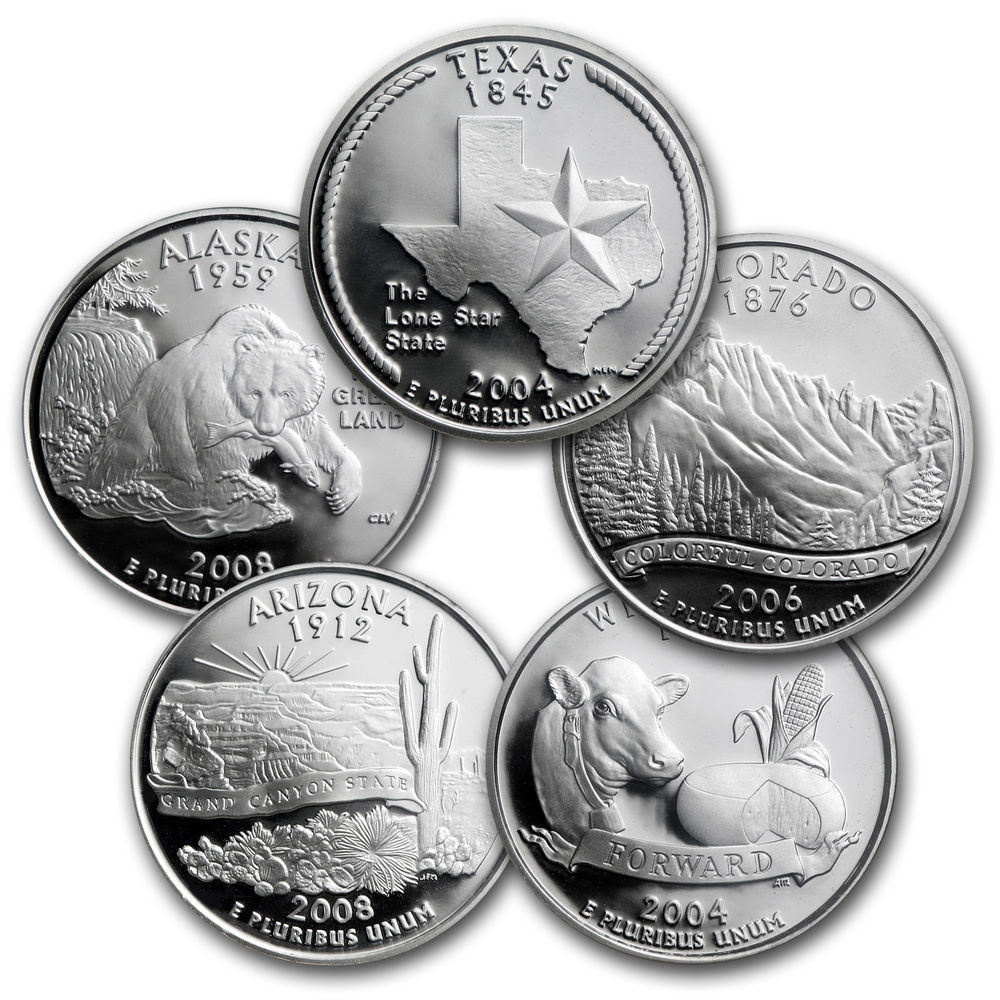 Beautiful 1999 2008 50 State Quarter Plete 200 Coin Set Dansco State Quarter Set Of Superb 44 Pictures State Quarter Set