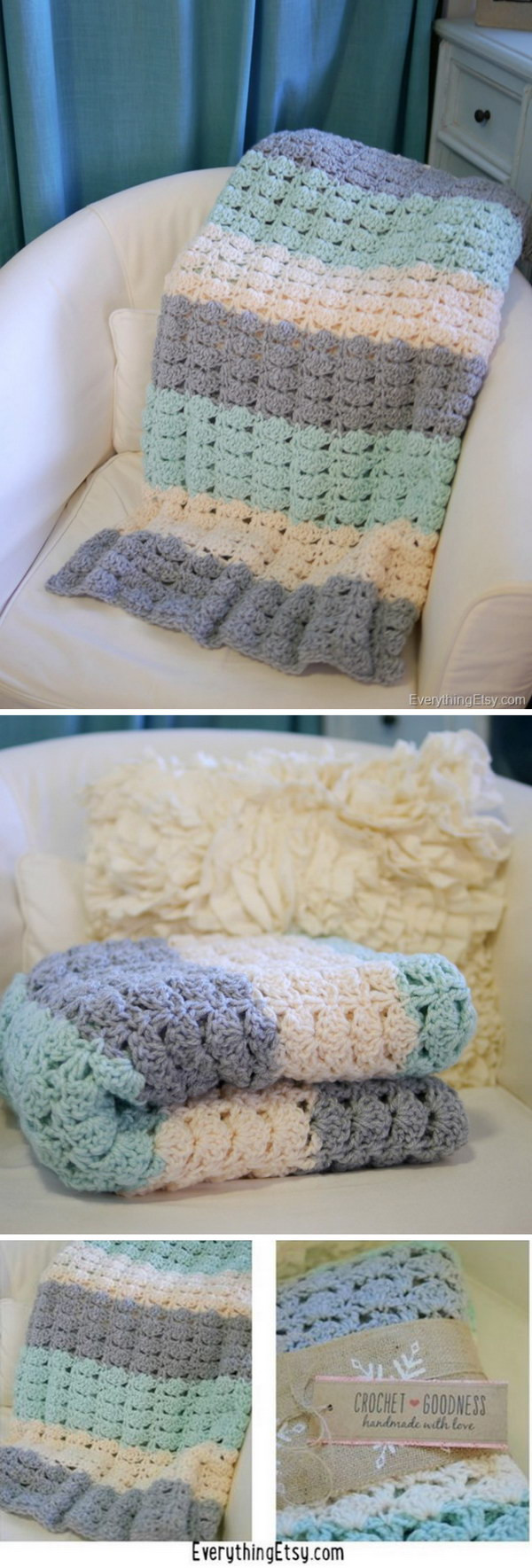 Beautiful 20 Free Crochet Blanket Patterns with Lots Of Tutorials Easy Crochet Stitches for Blankets Of Great 41 Photos Easy Crochet Stitches for Blankets