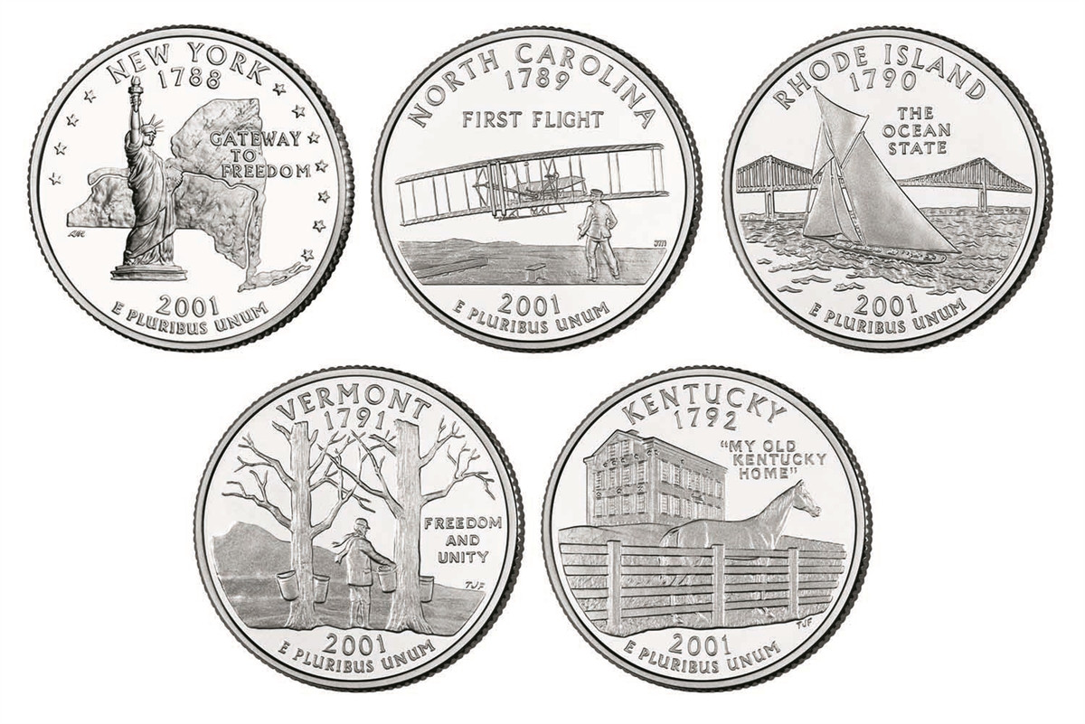 Beautiful 2001 P and D Bu State Quarter 10 Coin Set State Quarter Set Of Superb 44 Pictures State Quarter Set