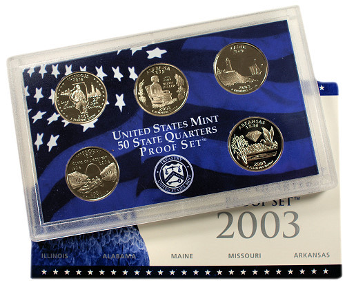 2003 State Quarter Proof Set Free Shipping at