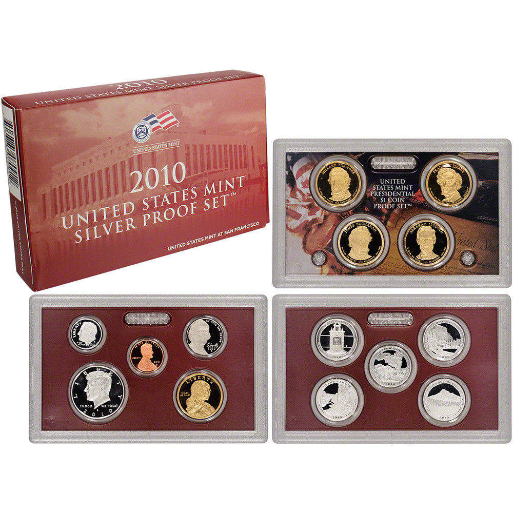 Beautiful 2010 Us Mint Silver Proof Set Proof Sets Of Great 40 Photos Proof Sets