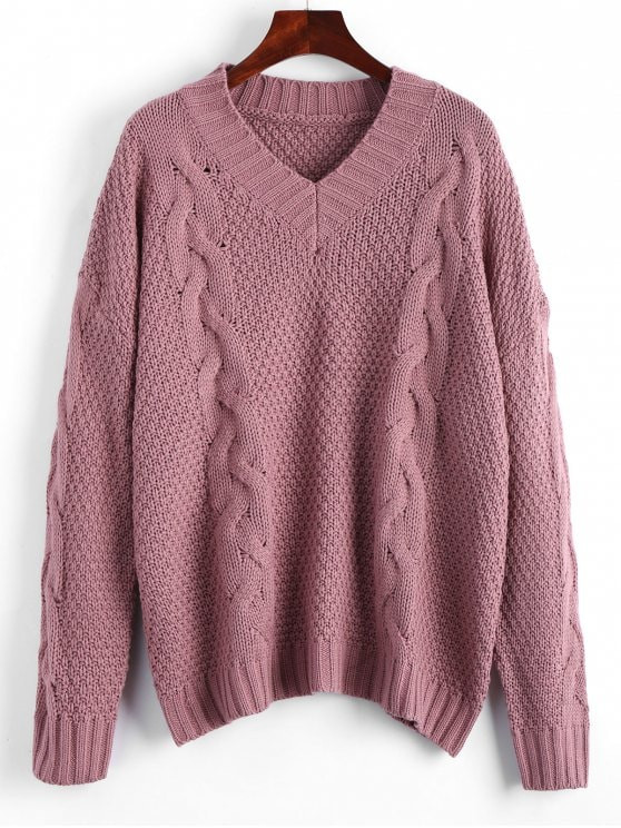 Beautiful 2019 Oversized V Neck Cable Knit Sweater In Smashing One V Neck Cable Knit Sweater Of Great 44 Pictures V Neck Cable Knit Sweater