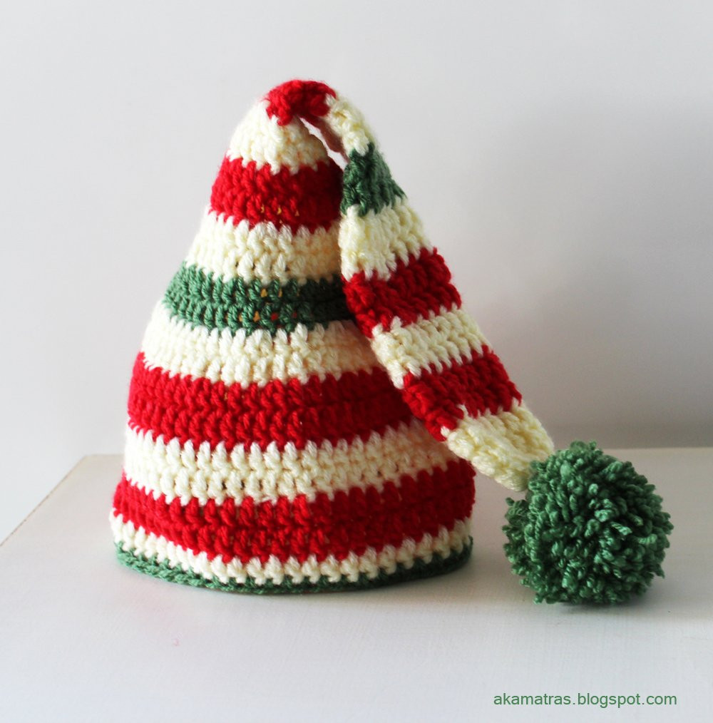 Beautiful 22 Tutorials and Patterns for Adorable Winter Hats for Kids Crochet Christmas Hats Of Beautiful 46 Images Crochet Christmas Hats