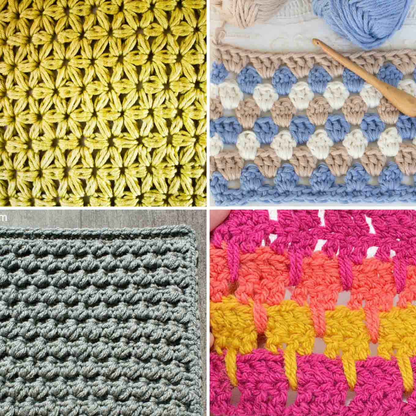 25 Crochet Stitches For Blankets and Afghans Make & Do Crew