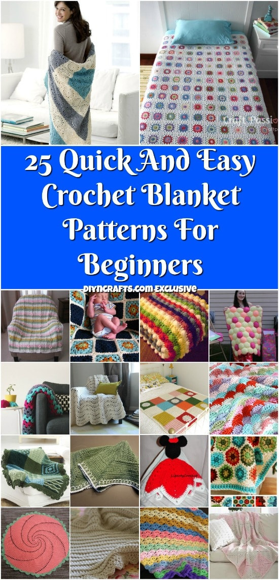 Beautiful 25 Quick and Easy Crochet Blanket Patterns for Beginners Crochet Blanket Patterns for Beginners Of Charming 50 Pictures Crochet Blanket Patterns for Beginners