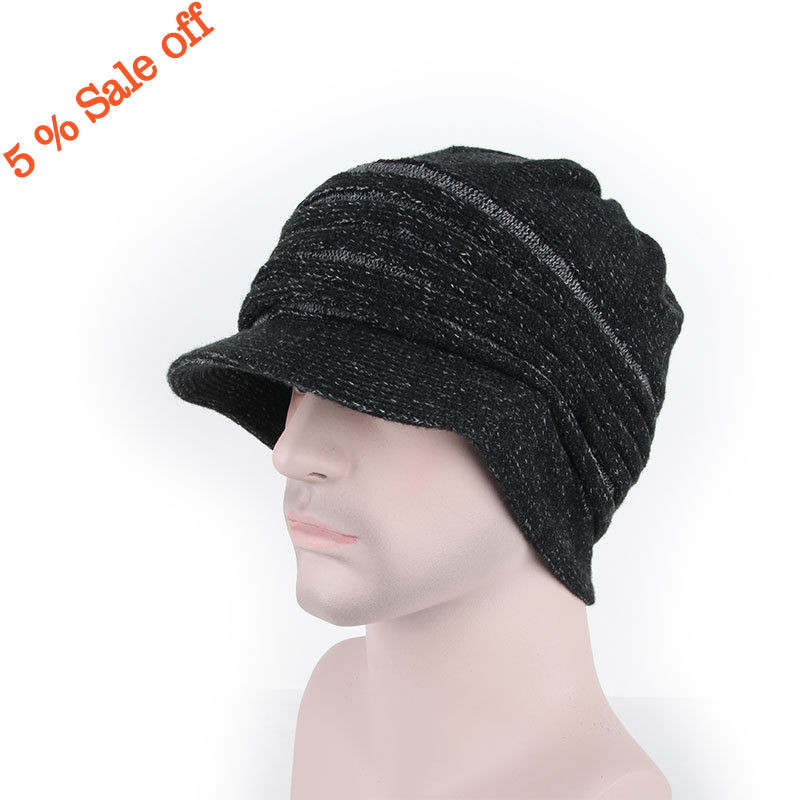 Beautiful 3 Colors Brim Beanie Mens Womens Cap Hats Knit Crochet Knit Hat with Brim Of Contemporary 48 Pictures Knit Hat with Brim