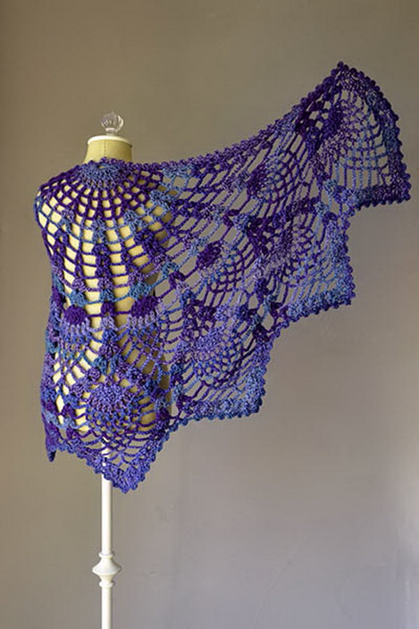 Beautiful 30 Great Crochet Shawl Patterns 2017 Peacock Shawl Of Charming 44 Pictures Peacock Shawl