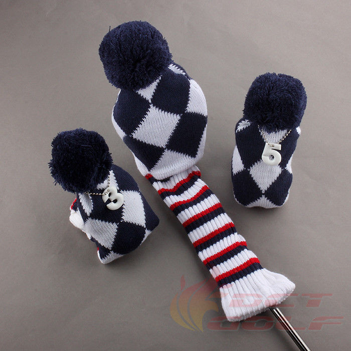 Beautiful 3x Knit Pom Pom Wool Golf Headcover for Titleist Callaway Knit Golf Headcovers Of Innovative 47 Models Knit Golf Headcovers