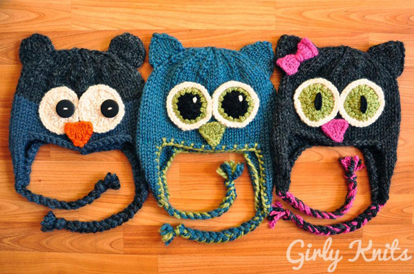 Beautiful 6 Animal Hat Patterns to Knit Lions Tigers and Bears Knitted Owl Hat Of Amazing 40 Photos Knitted Owl Hat