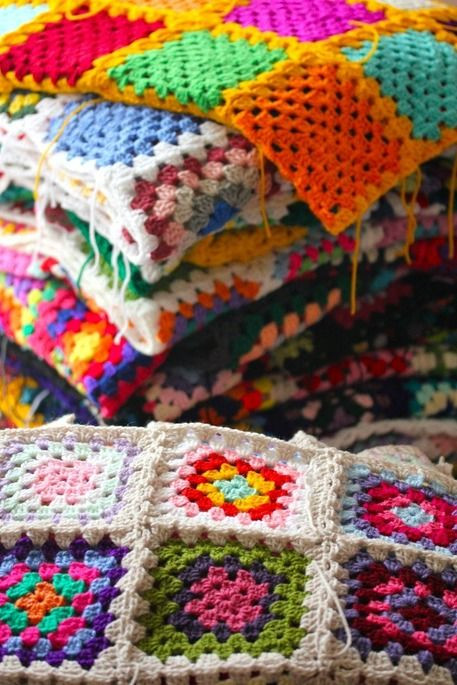 Beautiful 632 Best Images About Colchas Croche On Pinterest Granny Square Stitch Of Gorgeous 40 Ideas Granny Square Stitch
