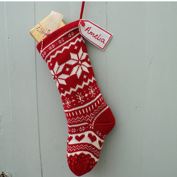 Beautiful 99 Best Christmas Stockings Images On Pinterest Knit Stocking Pattern Of Attractive 47 Pictures Knit Stocking Pattern