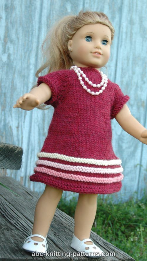 Beautiful Abc Knitting Patterns American Girl Doll Raglan Banded Dress Free Knitting Patterns for American Girl Dolls Of Delightful 41 Models Free Knitting Patterns for American Girl Dolls