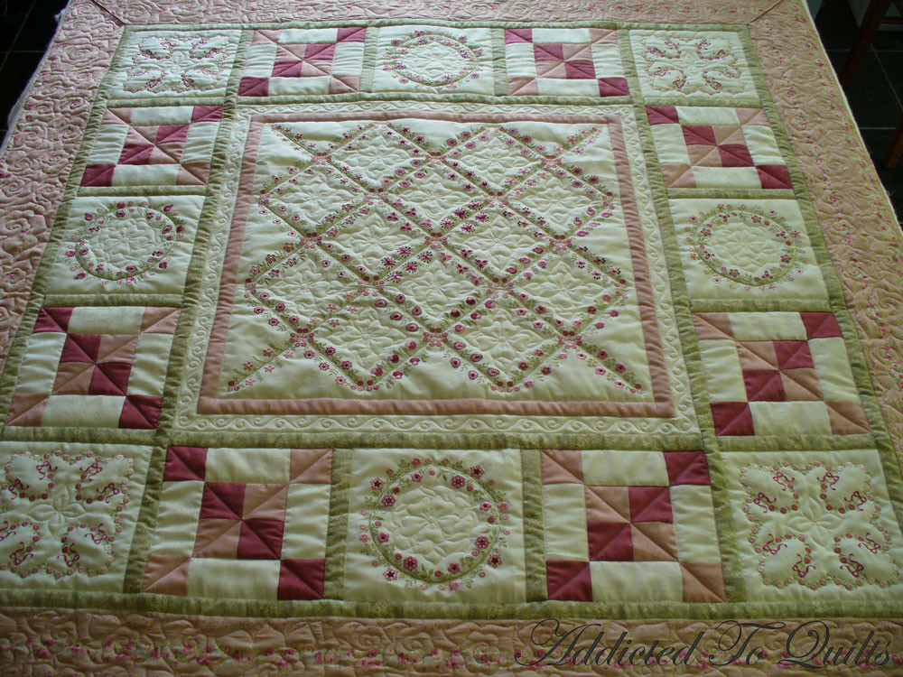 Beautiful Addicted to Quilts Two Pretty Embroidery Quilts Embroidery Quilt Patterns Of Contemporary 50 Pictures Embroidery Quilt Patterns