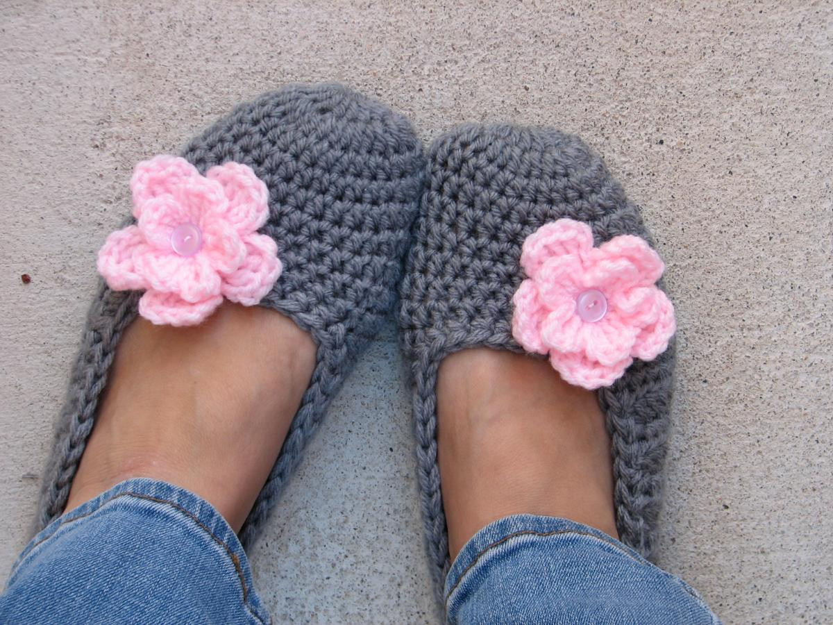 Adult Slippers Crochet Pattern PDF Easy Great For