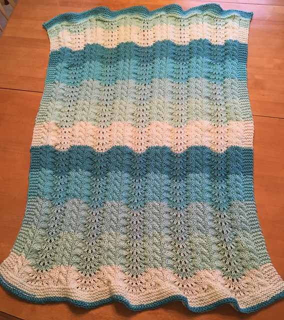 Afghan with Caron cakes