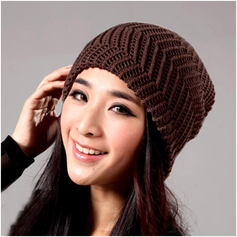 Beautiful Aliexpress Buy New 2016 Fashion Women Casual Winter Ladies Knitted Hats Of Adorable 50 Pictures Ladies Knitted Hats