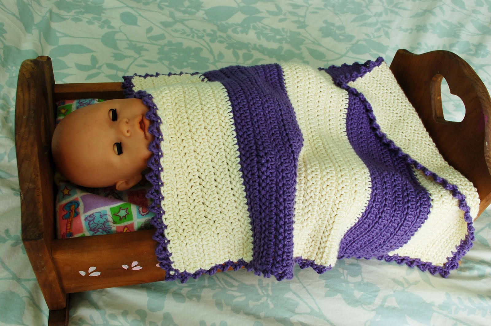 Beautiful Alli Crafts Free Pattern Doll Blanket with Special Stitch Baby Doll Blankets Of Adorable 37 Images Baby Doll Blankets