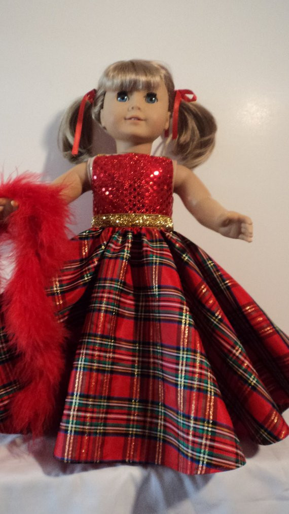 Beautiful American Girl Doll Clothes Plaid Christmas Gown & Boa American Girl Doll Christmas Outfits Of Wonderful 40 Ideas American Girl Doll Christmas Outfits
