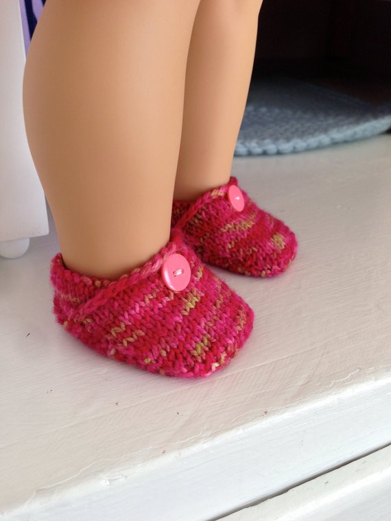 American Girl Doll Knit Toms Shoes Knitting Pattern from