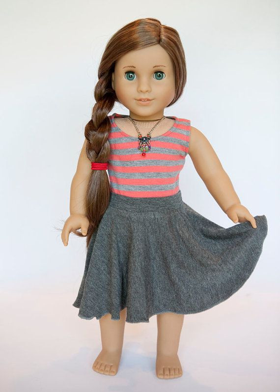 Beautiful American Girl Doll Midi Circle Skirt Grey by American Girl Doll Skirts Of Incredible 50 Ideas American Girl Doll Skirts